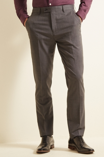 Ted Baker Slim Fit Grey Twill Trousers