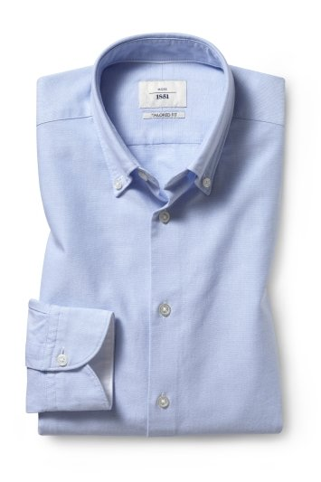 Tailored Fit Sky Oxford Shirt