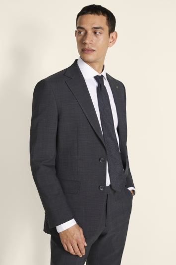 Tailored Fit Grey Pindot Eco Jacket