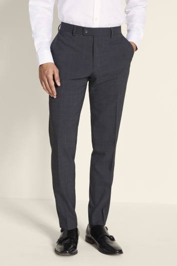 Ted Baker Alter Eco Tailored Fit Grey Pindot Trousers
