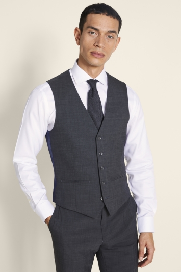 Ted Baker Alter Eco Tailored Fit Grey Pindot Waistcoat