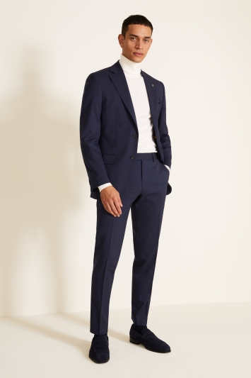 Tailored Fit Navy Pindot Eco Jacket