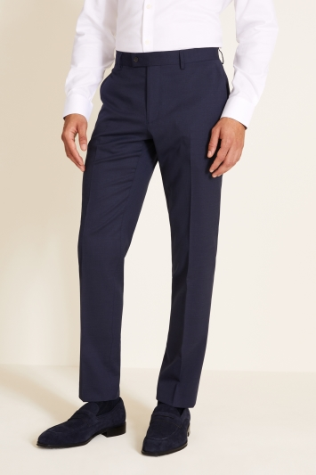 Tailored Fit Navy Pindot Eco Trousers