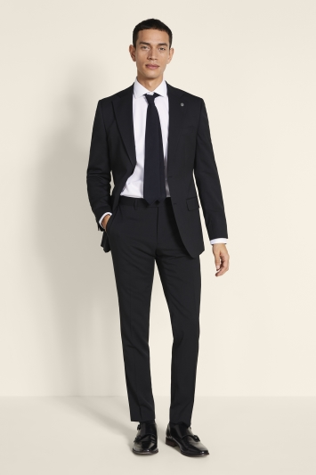 Ted Baker Alter Eco Tailored Fit Black Twill Suit Jacket