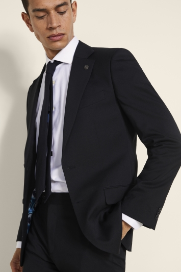 Ted Baker Alter Eco Tailored Fit Black Twill Jacket