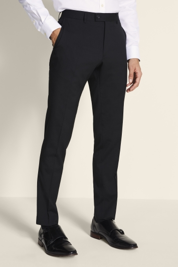 Ted Baker Alter Eco Tailored Fit Black Twill Trousers