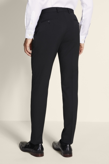 Tailored Fit Black Twill Eco Trousers