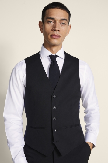 Ted Baker Alter Eco Tailored Fit Black Twill Waistcoat