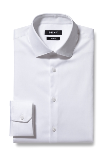 Slim Fit White Stretch Shirt