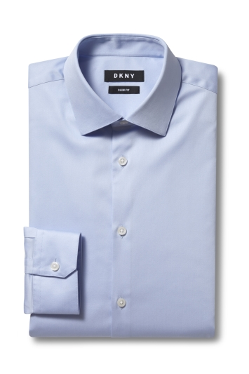 DKNY Slim Fit Sky Single Cuff Stretch Shirt