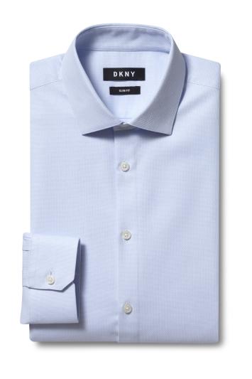 DKNY Slim Fit Sky Single Cuff Dobby Shirt