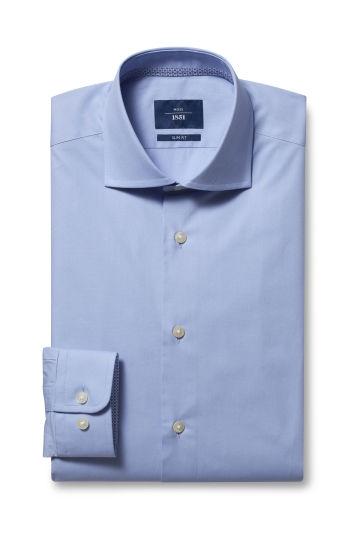 Slim Fit Sky Stretch Contrast Shirt