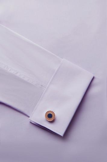 Rose Gold with Navy Enamel Cufflinks