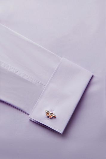 Silver & Brown Moth Cufflinks