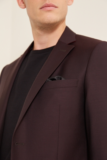 DKNY Slim Fit Burgundy Jacket