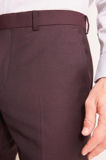 DKNY Slim Fit Burgundy Trousers