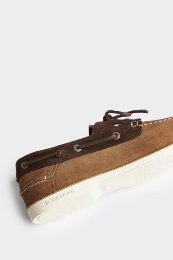 Tommy Hilfiger Khaki Classic Suede Boat Shoe