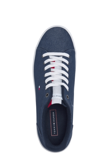Tommy Hilfiger Navy Essential Long Lace Sneaker