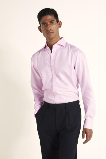 Tailored Fit Pink Arrow Weave Zero Iron Shirt