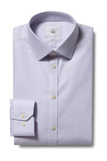 Slim Fit Lilac Dobby Zero Iron Shirt