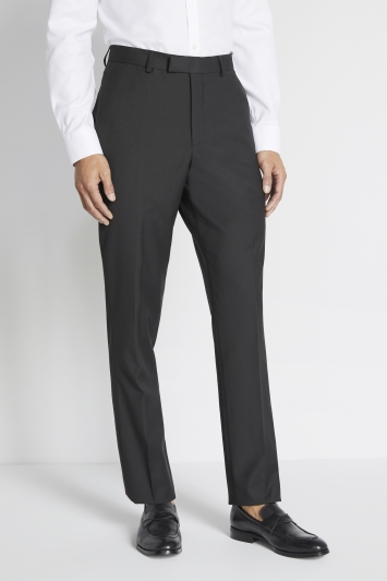 Moss 1851 Tailored Fit Black Stretch Trouser