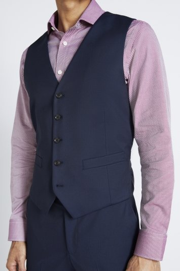 Moss 1851 Tailored Fit Ink Stretch Waistcoat