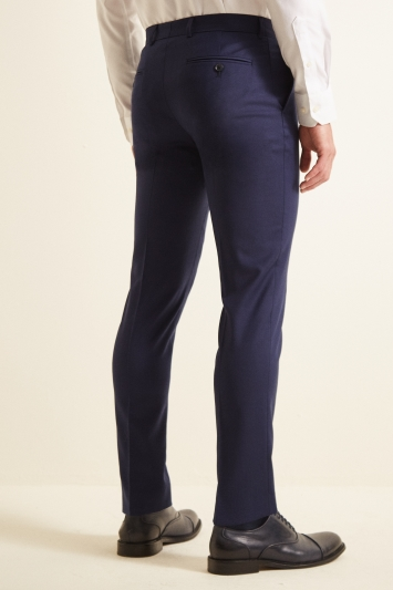 Moss 1851 Slim Fit Navy Twill Trousers