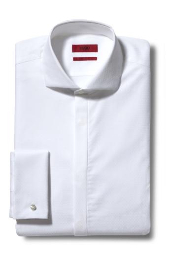 HUGO by Hugo Boss Katthew White Textured Dress Shirt
