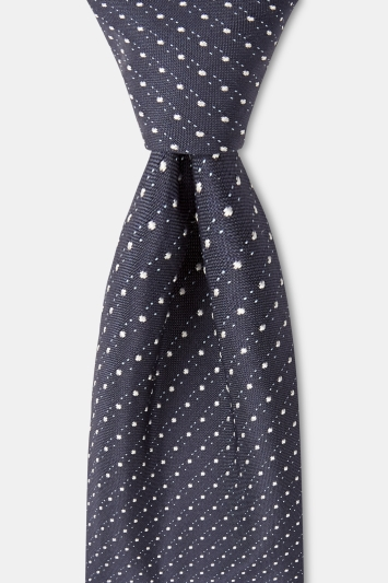 HUGO by Hugo Boss Navy Pindot Tie