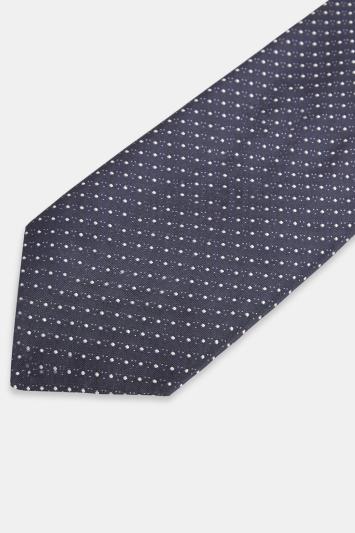 HUGO by Hugo Boss Navy Pindot Tie