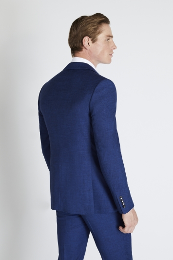 Moss London Slim Fit Blue Slub Jacket