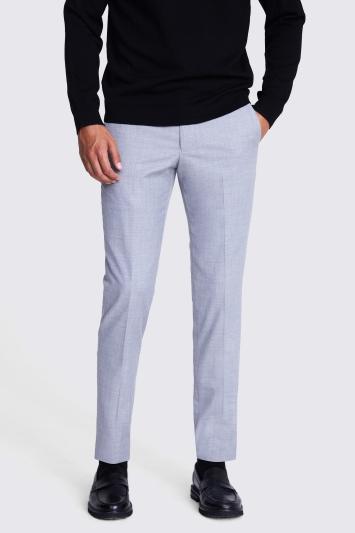 Moss London Slim Fit Grey Stretch Trousers