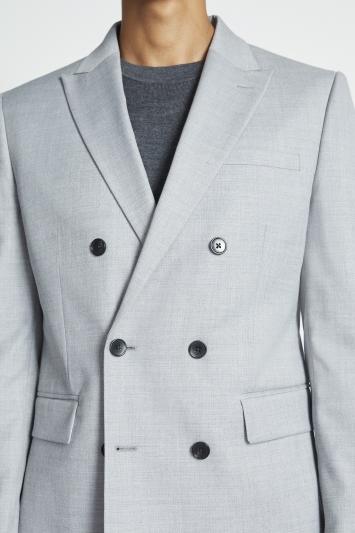 Slim Fit Grey Stretch Jacket