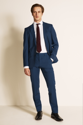 HUGO by Hugo Boss Tailored Fit Blue Jacket