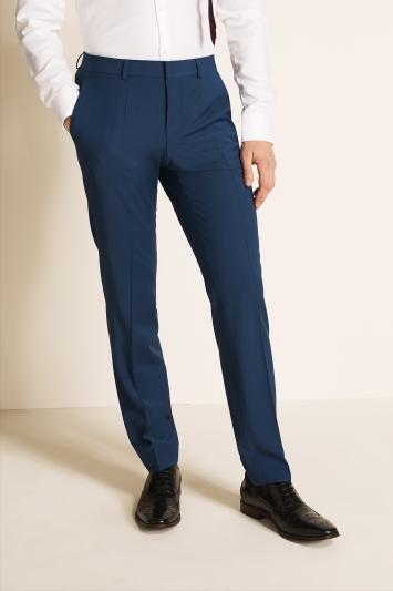 Slim Fit Blue Trousers