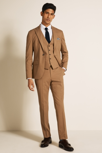 Moss London Slim Fit Camel Jacket