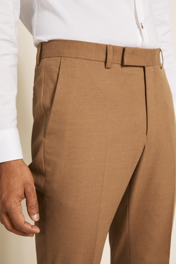 Moss London Slim Fit Camel Trousers