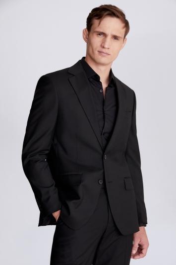 Moss 1851 Regular Fit Black Stretch Jacket