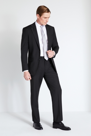 Moss 1851 Regular Fit Black Stretch Jacket