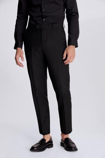 Moss 1851 Regular Fit Black Stretch Trouser