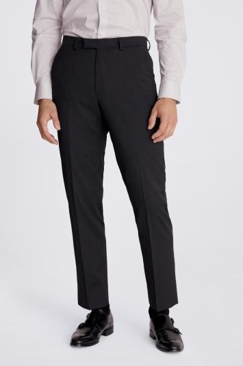 Moss 1851 Regular Fit Charocal Stretch Trouser