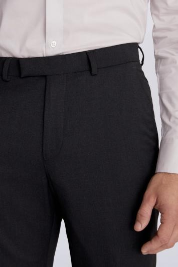Moss 1851 Regular Fit Charcoal Stretch Trouser