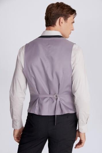 Moss 1851 Regular Fit Charcoal Stretch Waistcoat