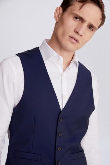 Moss 1851 Regular Fit Ink Stretch Waistcoat