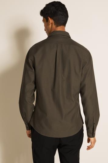 Moss 1851 Khaki Twill Single Cuff Overshirt