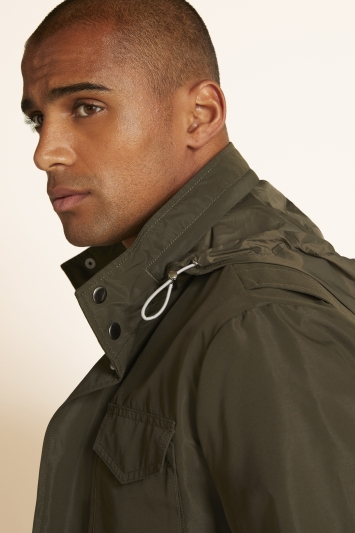 Moss 1851 Tailored Fit Green Field Jacket