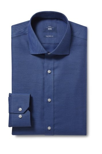 Tailored Fit Navy Twill Non Iron Shirt