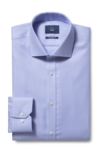 Tailored Fit Lilac Dobby Non Iron Shirt