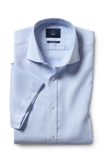 Tailored Fit Sky Dobby Short Sleeve Non Iron Shirt