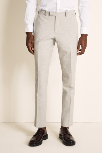 DKNY Slim Fit Light Grey Crepe Jacket